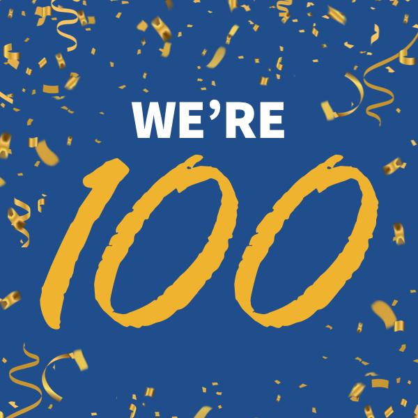 We're celebrating 100 years of trading!